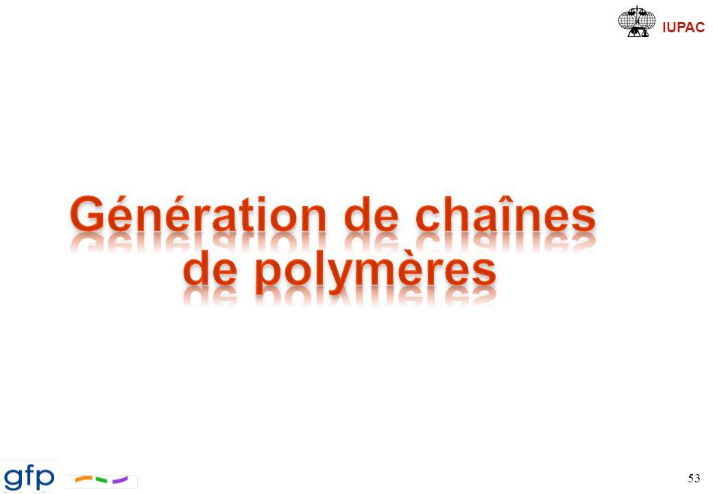 Génération de chaînes de polymères
