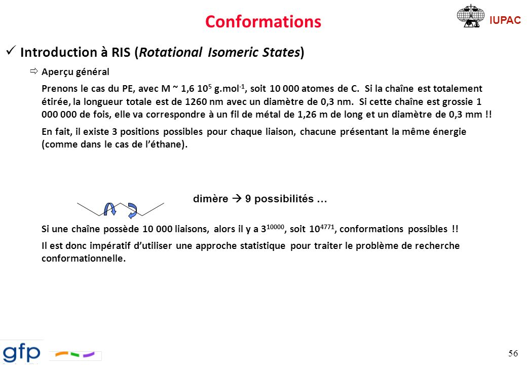 Conformations Introduction à RIS (Rotational Isomeric States)