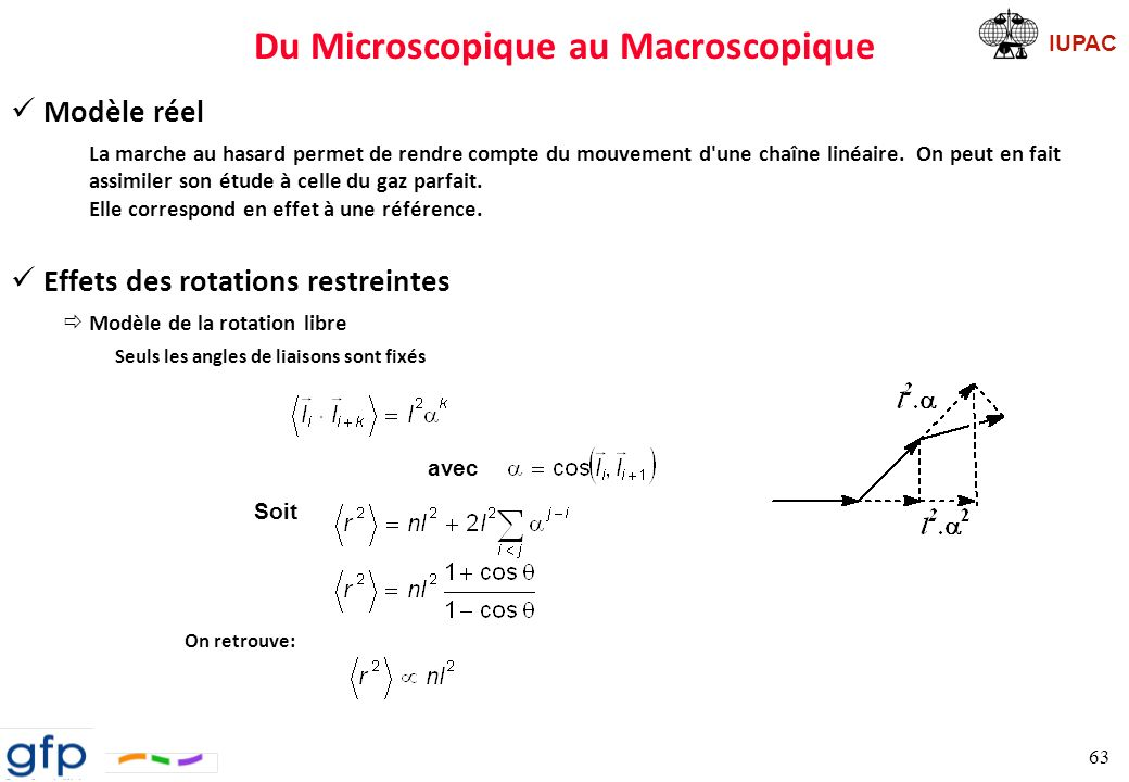 Du Microscopique au Macroscopique