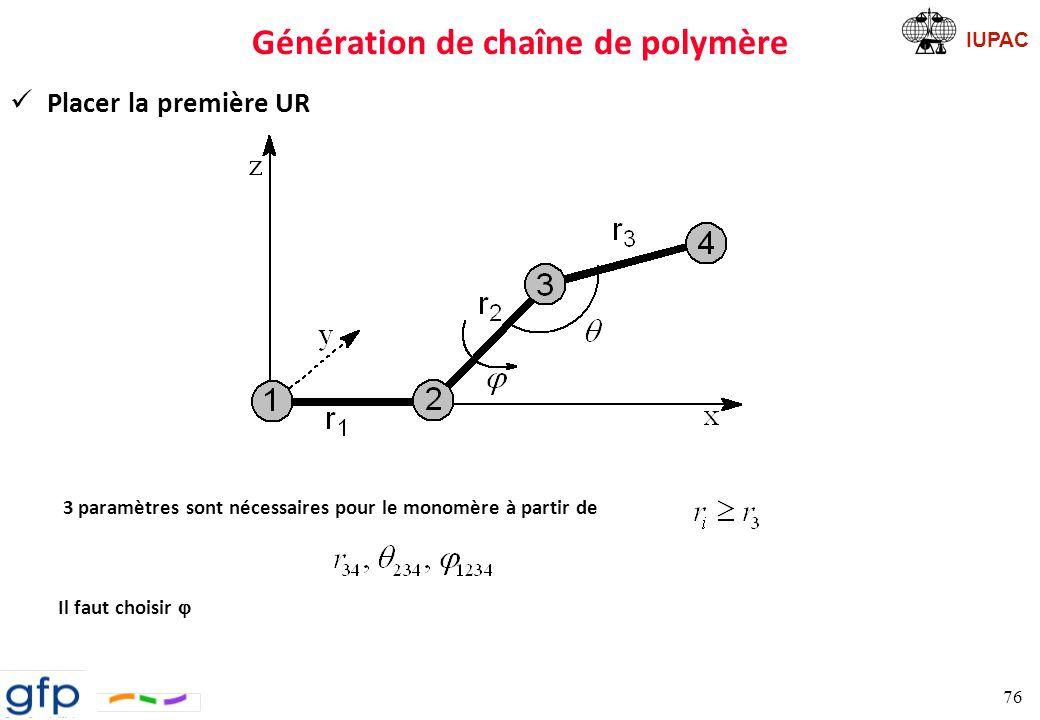 Génération de chaîne de polymère