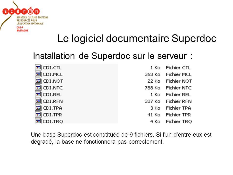 Le logiciel documentaire Superdoc