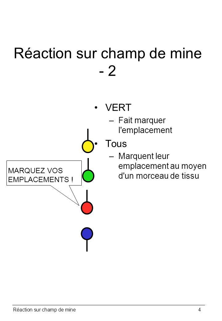 Réaction sur champ de mine - 2