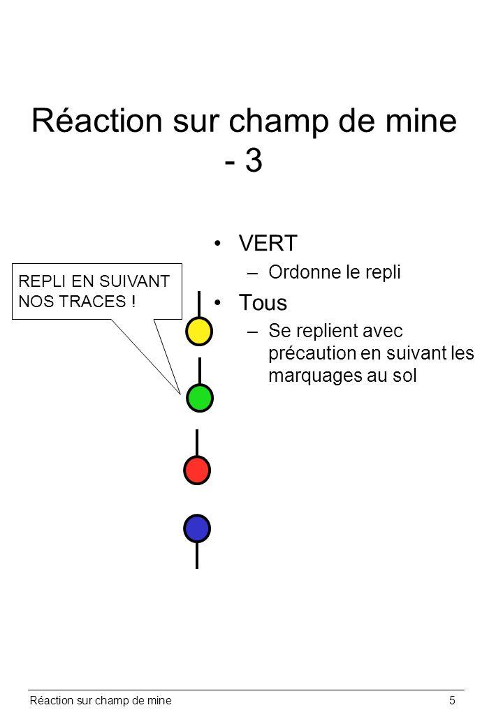 Réaction sur champ de mine - 3
