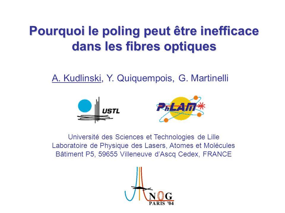Pourquoi le poling peut être inefficace dans les fibres optiques
