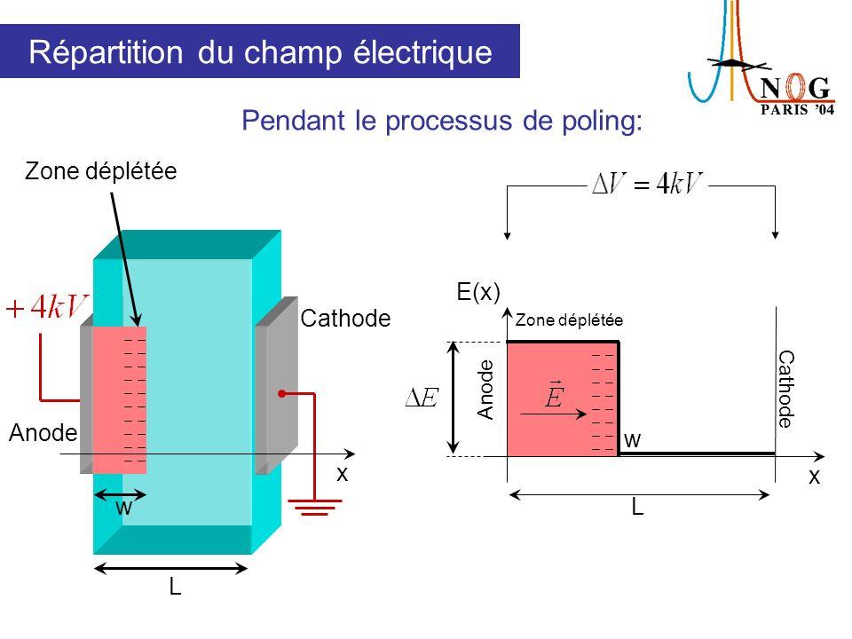 Répartition du champ électrique