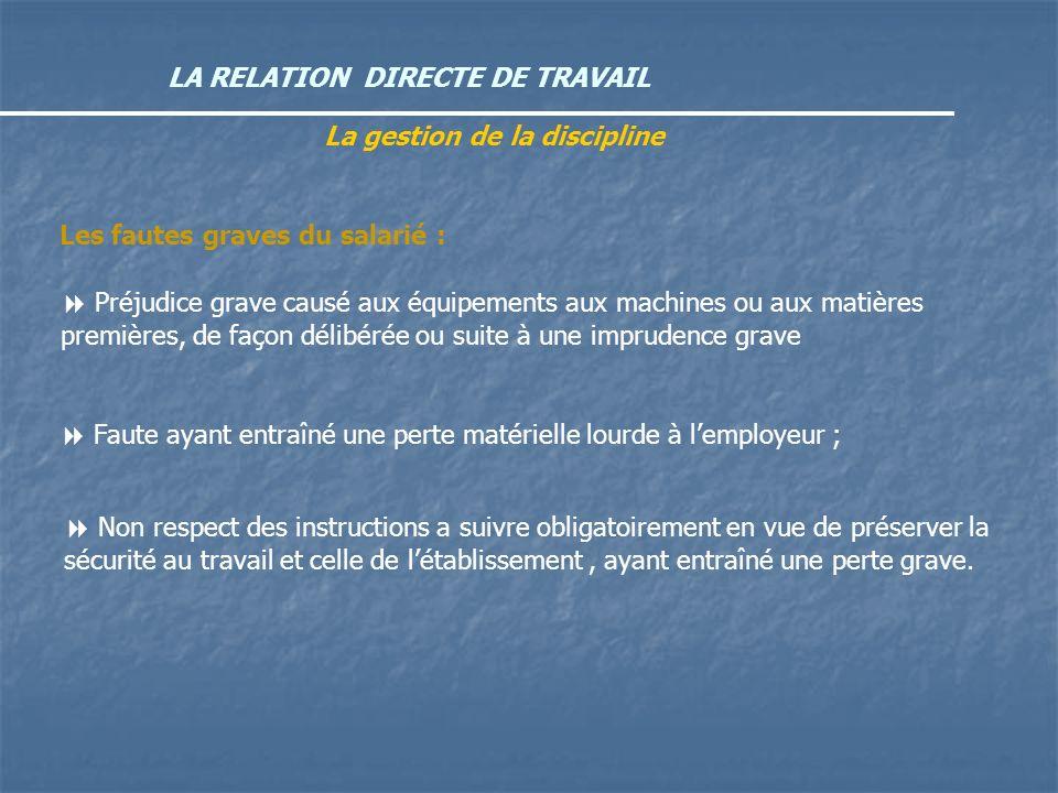 La gestion de la discipline