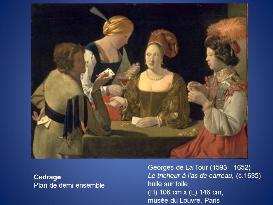 Georges de La Tour (1593 - 1652) Le tricheur à l as de carreau, (c.1635) huile sur toile, (H) 106 cm x (L) 146 cm,