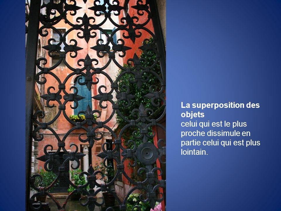 La superposition des objets
