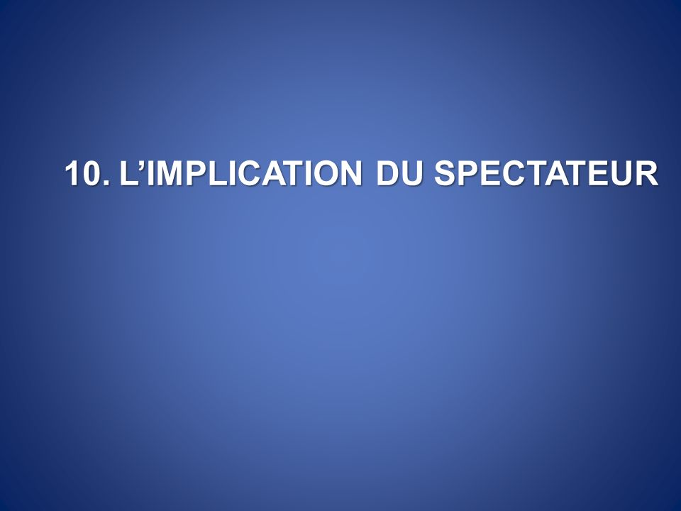 L'IMPLICATION DU SPECTATEUR
