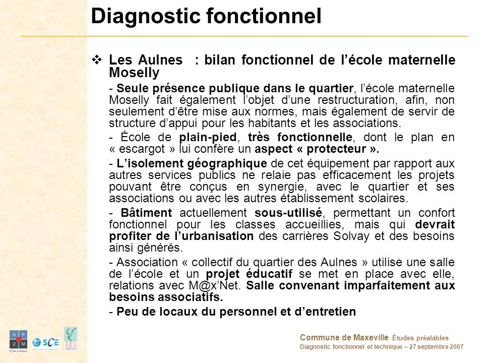 Diagnostic fonctionnel