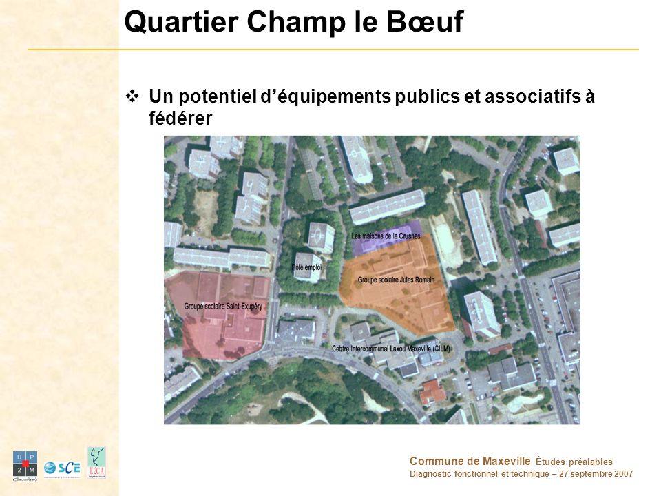 Quartier Champ le Bœuf Un potentiel d'équipements publics et associatifs à fédérer