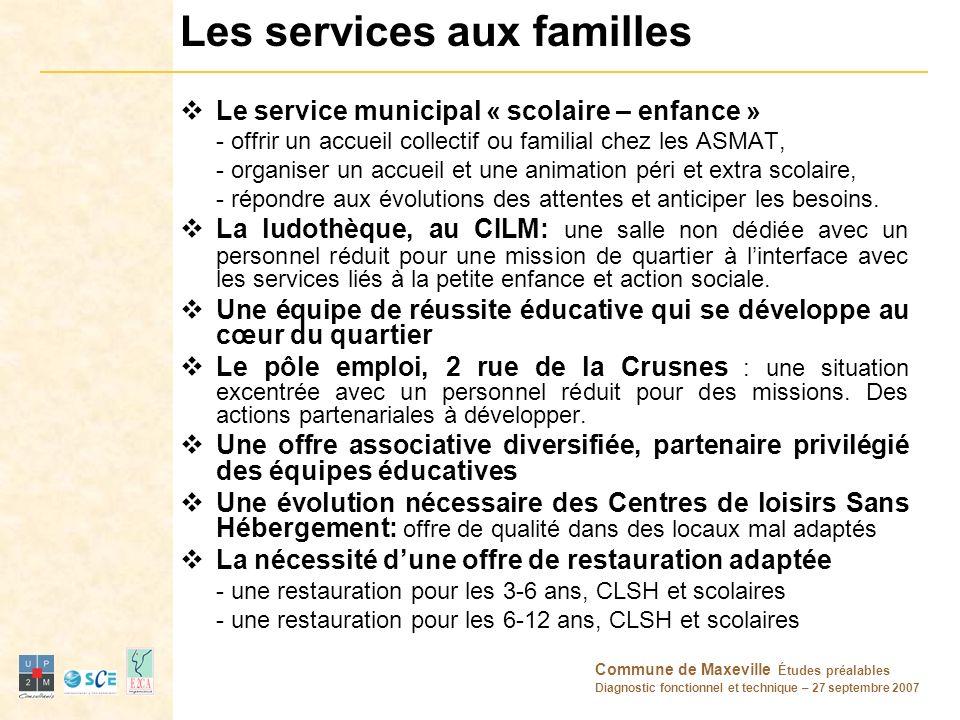 Les services aux familles