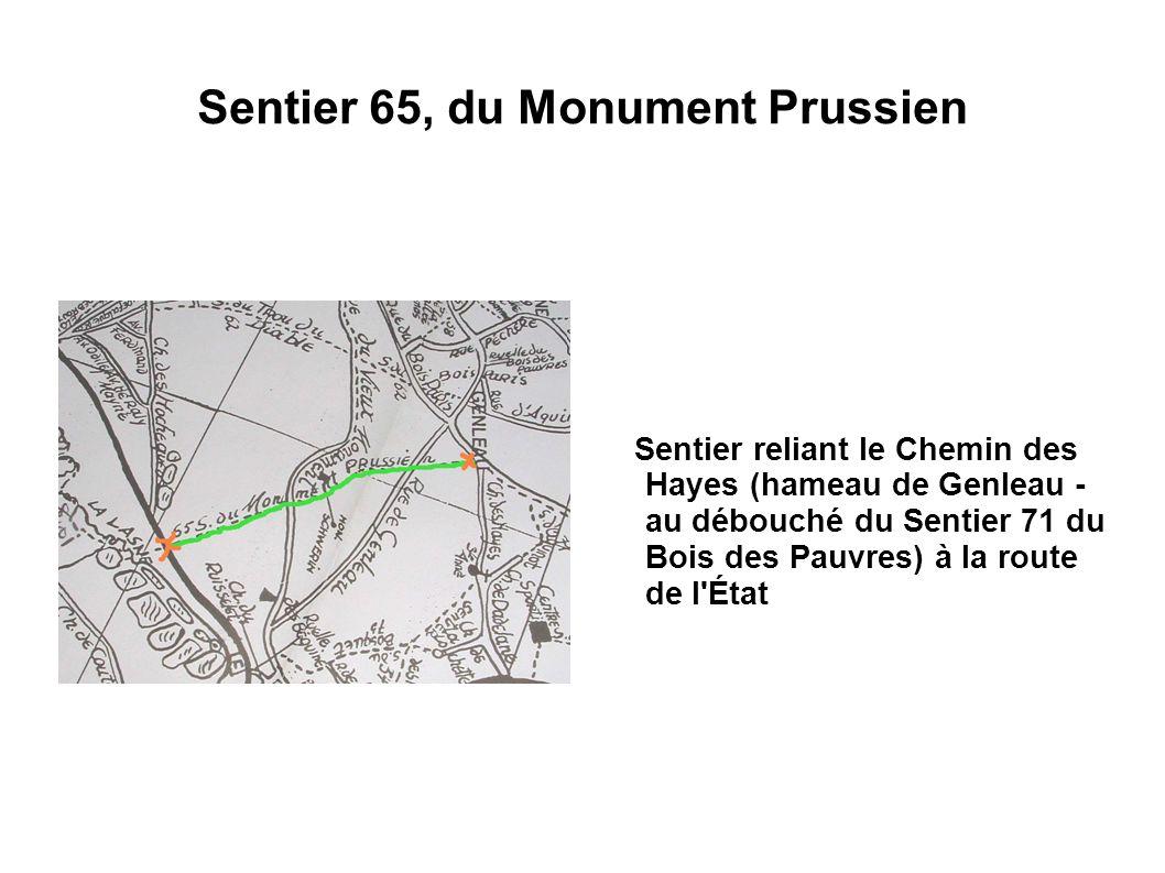 Sentier 65, du Monument Prussien