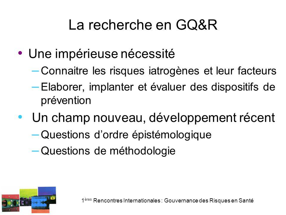 1ères Rencontres Internationales : Gouvernance des Risques en Santé