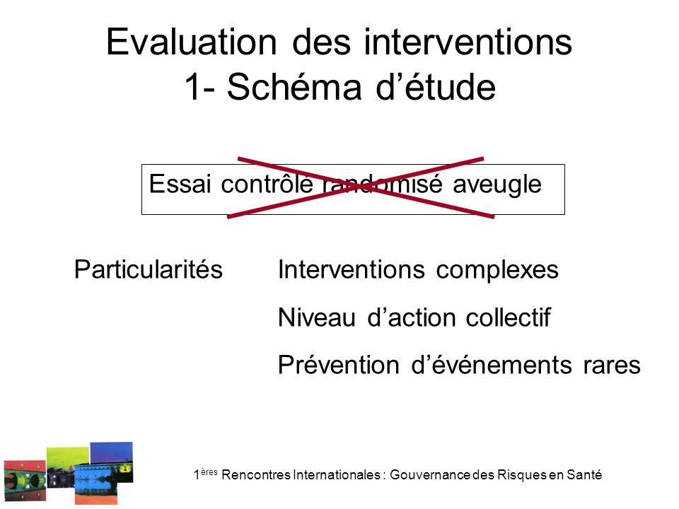 Evaluation des interventions 1- Schéma d'étude