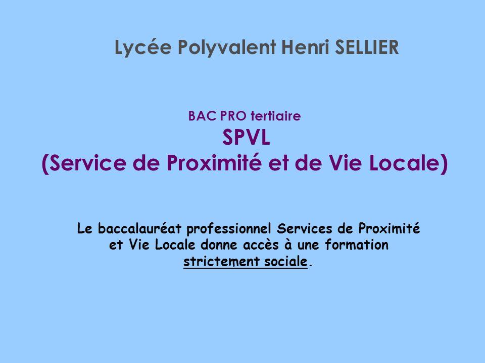 BAC PRO tertiaire SPVL (Service de Proximité et de Vie Locale)