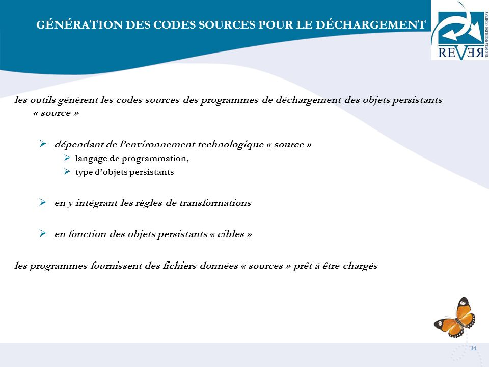 GÉNÉRATION DES CODES SOURCES POUR LE DÉCHARGEMENT