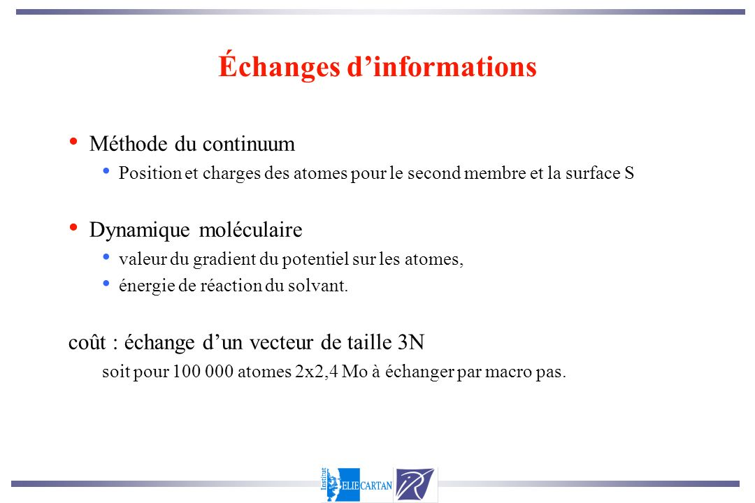 Échanges d'informations