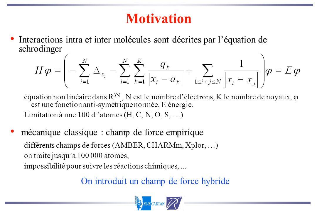 Motivation Interactions intra et inter molécules sont décrites par l'équation de schrodinger.