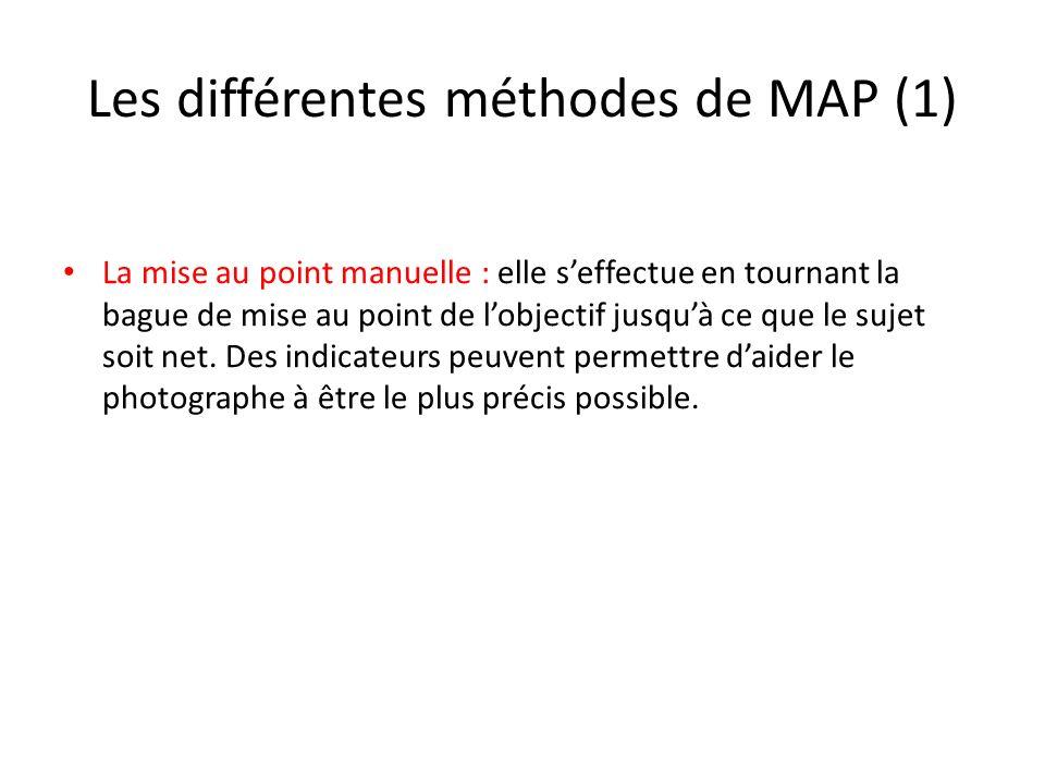 Les différentes méthodes de MAP (1)