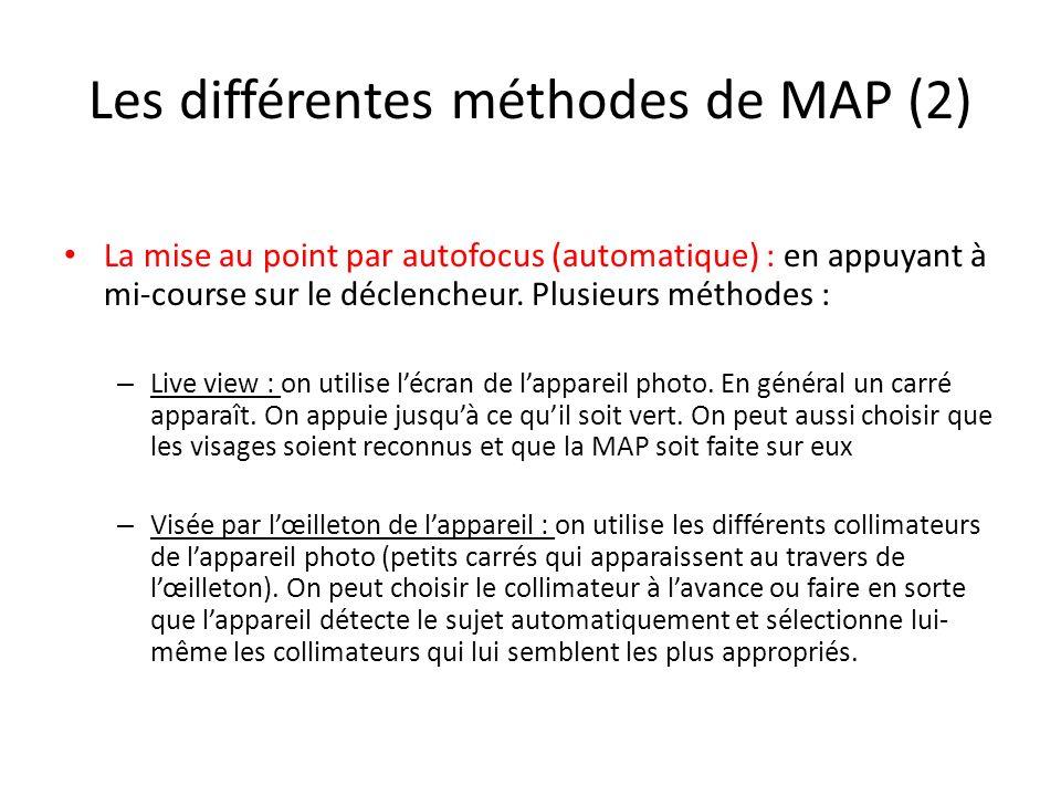 Les différentes méthodes de MAP (2)