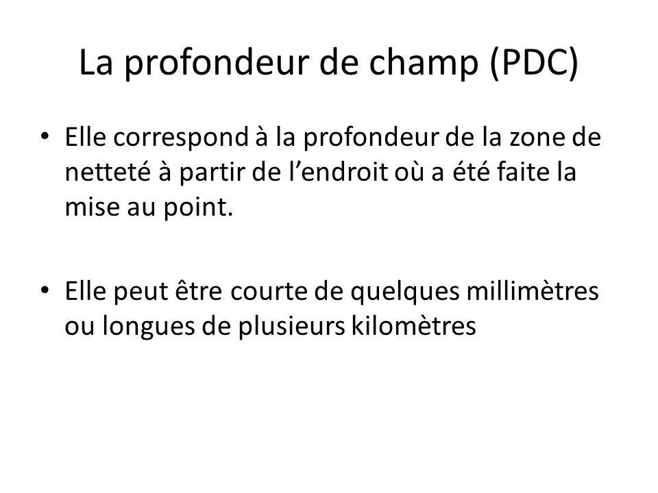 La profondeur de champ (PDC)