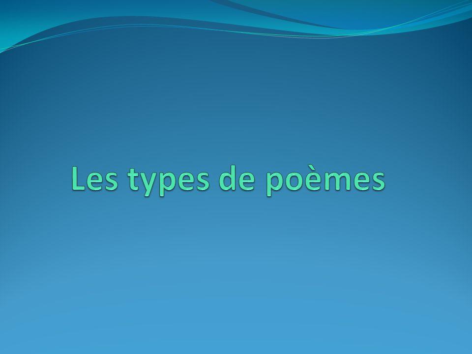 Les types de poèmes