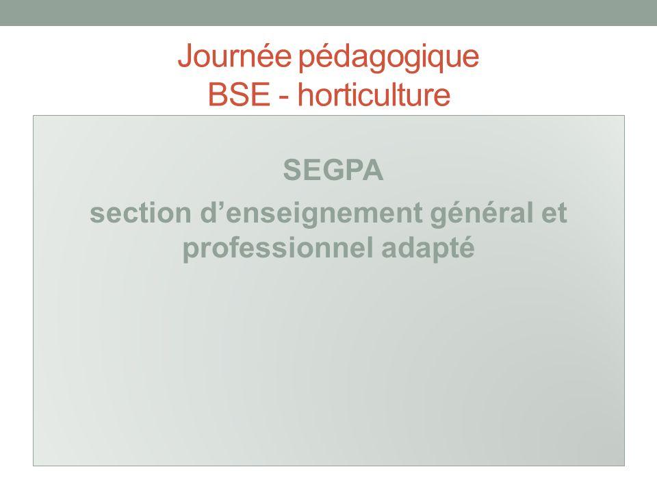 Journée pédagogique BSE - horticulture