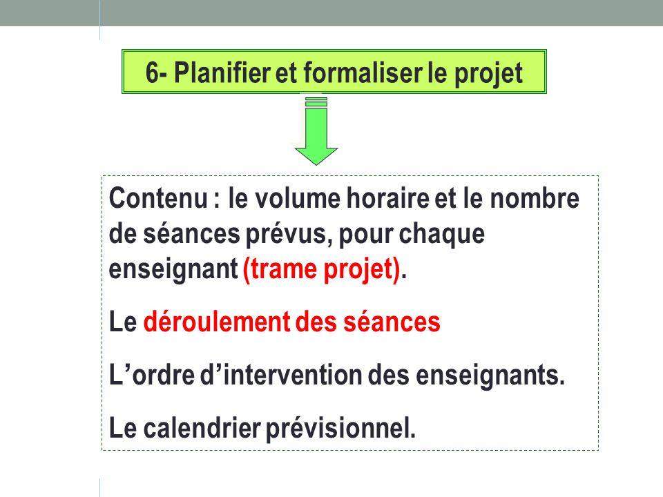 6- Planifier et formaliser le projet