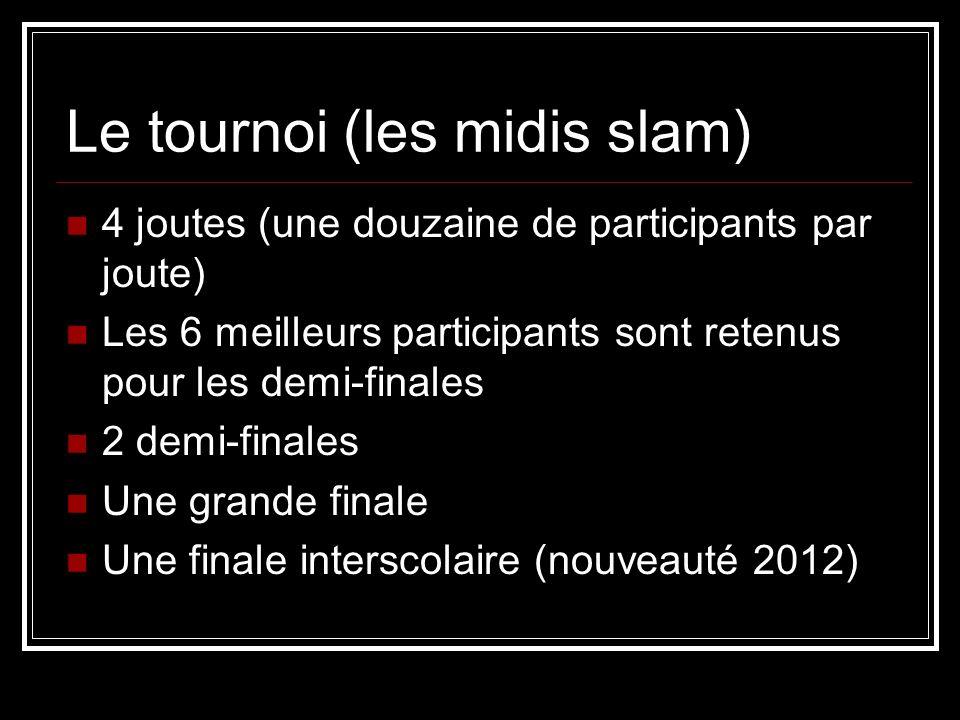 Le tournoi (les midis slam)
