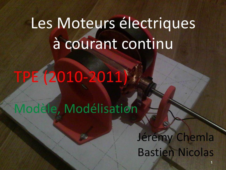 Les Moteurs électriques à courant continu