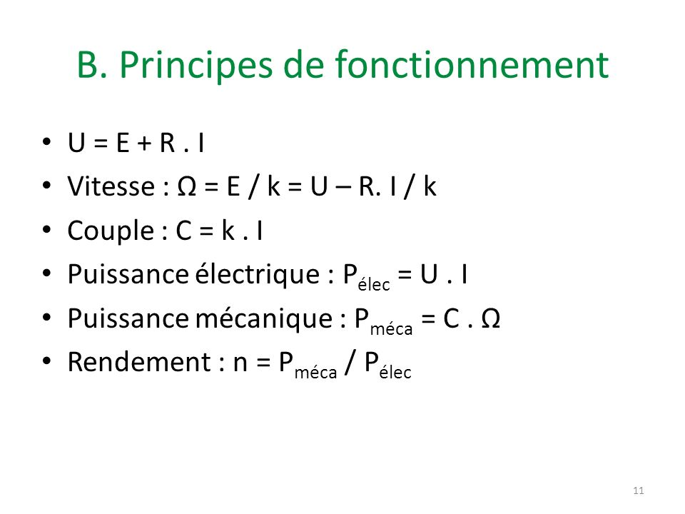 B. Principes de fonctionnement
