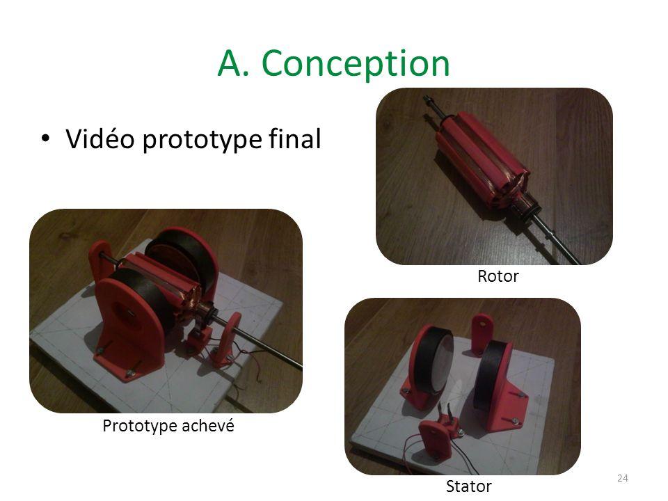 A. Conception Vidéo prototype final Rotor Prototype achevé 2ème moteur