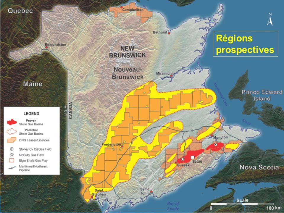 Régions prospectives Nouveau-Brunswick