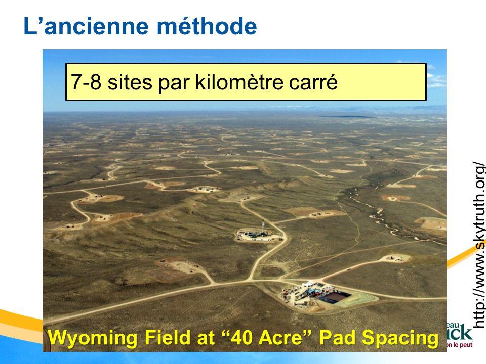 L'ancienne méthode 7-8 sites par kilomètre carré