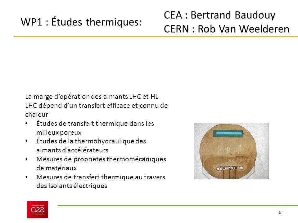 CERN : Rob Van Weelderen WP1 : Études thermiques: