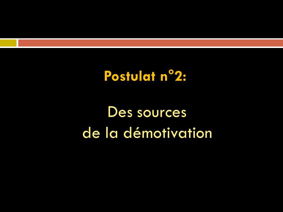 Des sources de la démotivation