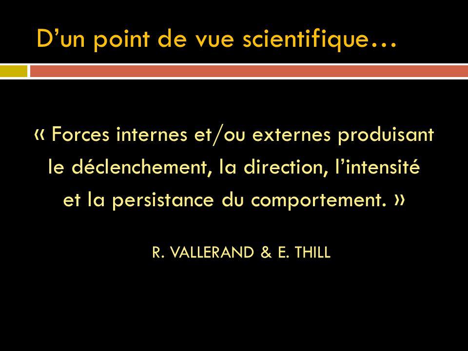 D'un point de vue scientifique…