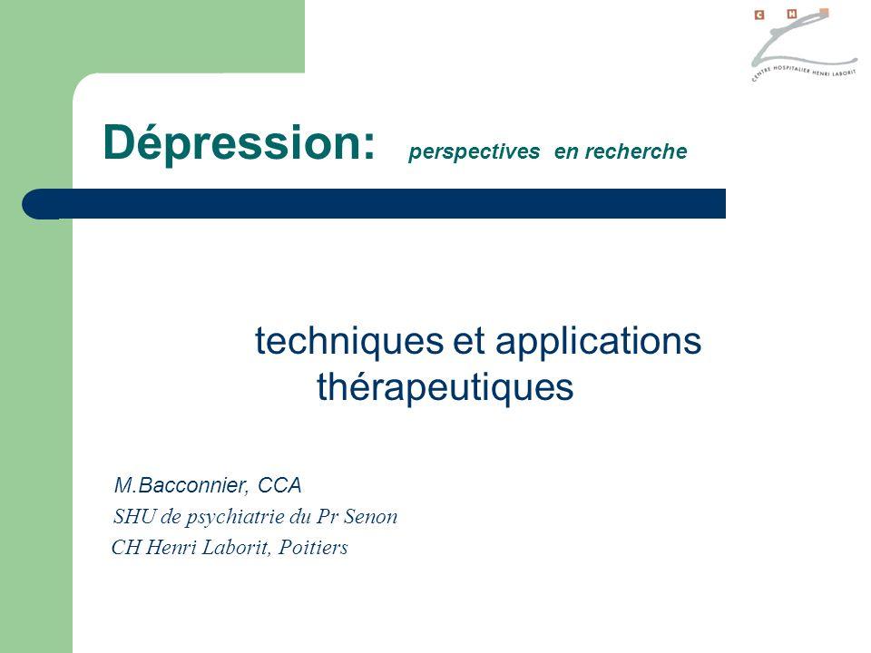 techniques et applications thérapeutiques
