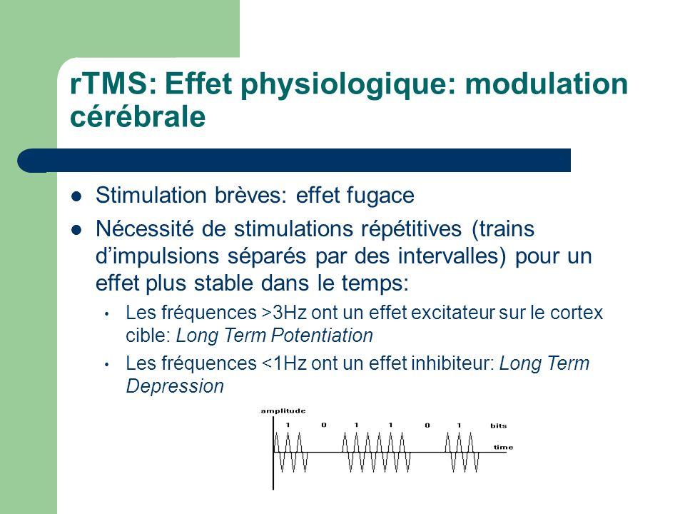 rTMS: Effet physiologique: modulation cérébrale