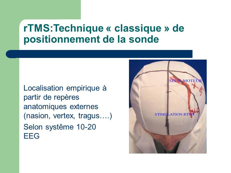 rTMS:Technique « classique » de positionnement de la sonde