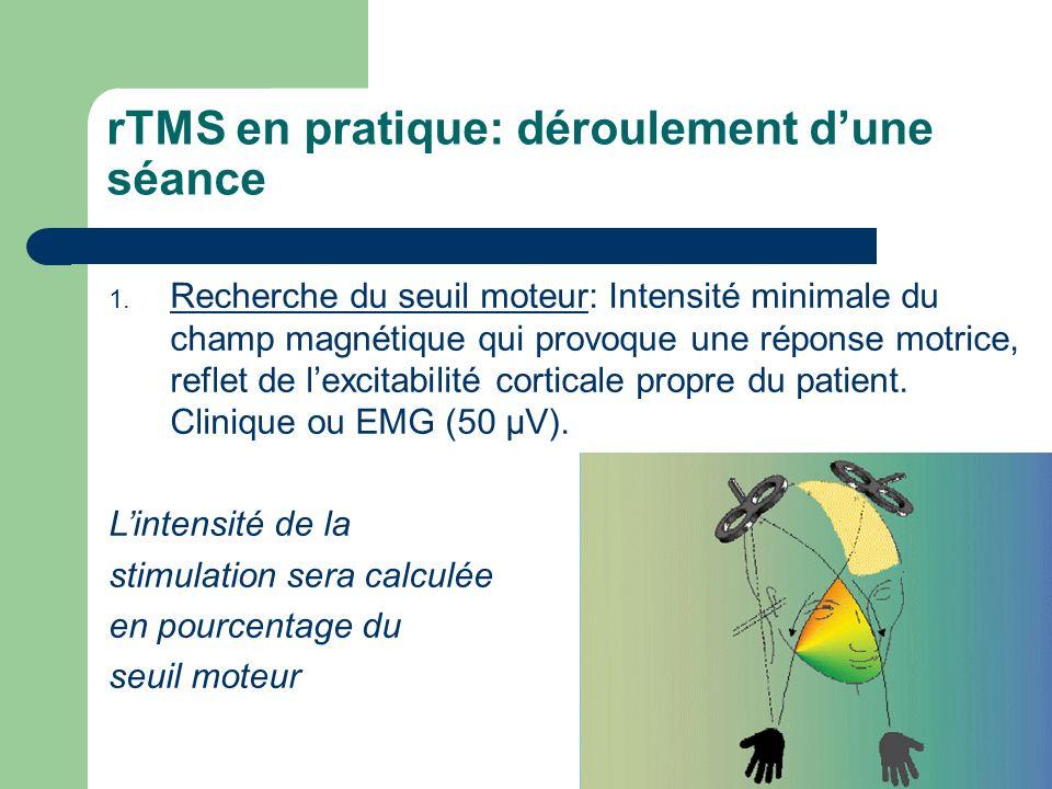 rTMS en pratique: déroulement d'une séance