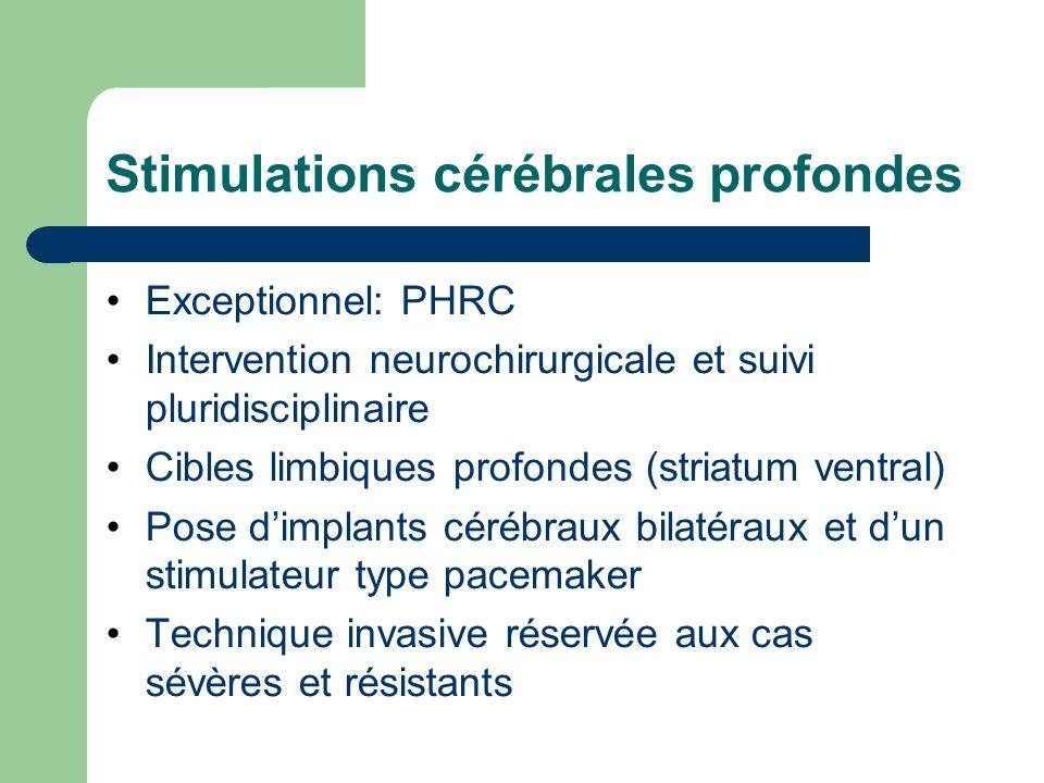 Stimulations cérébrales profondes