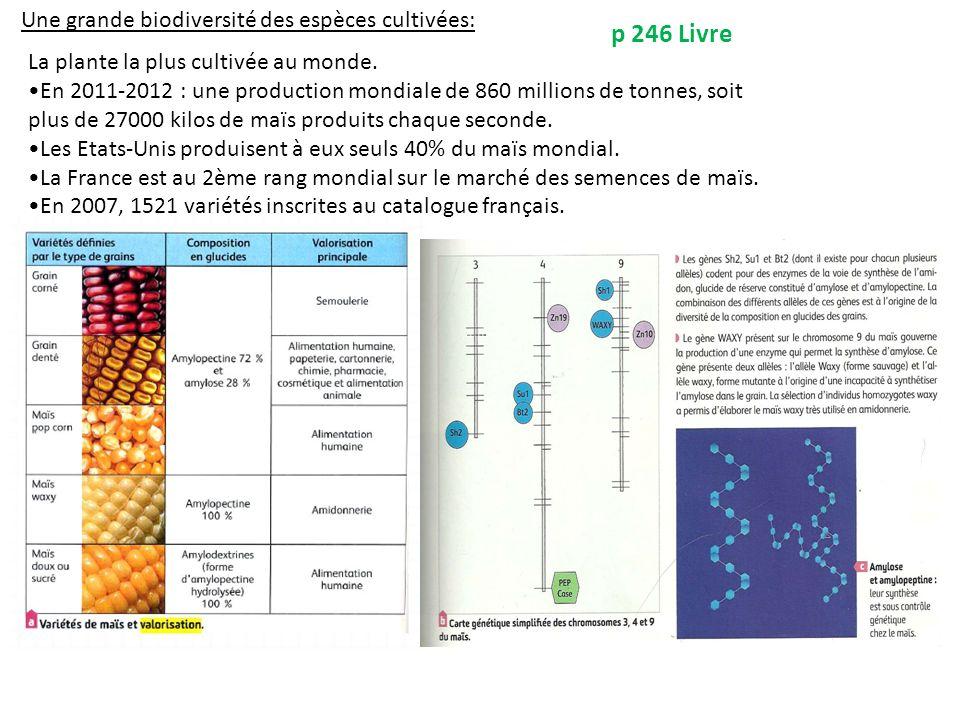 p 246 Livre Une grande biodiversité des espèces cultivées: