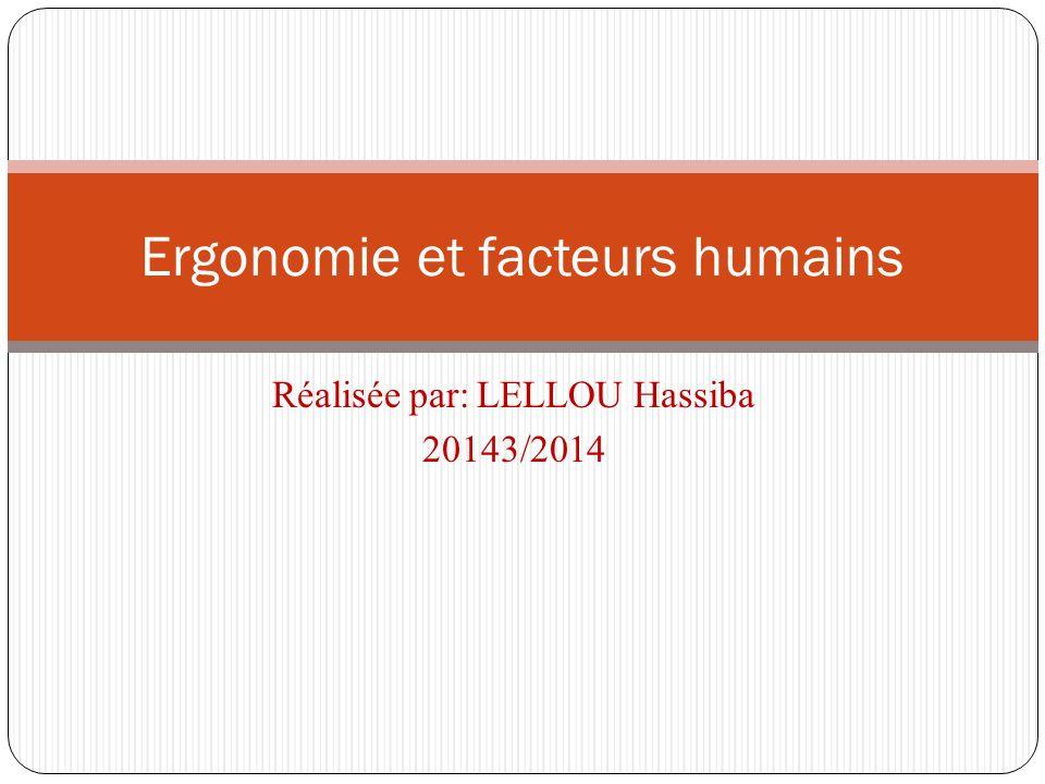 Ergonomie et facteurs humains