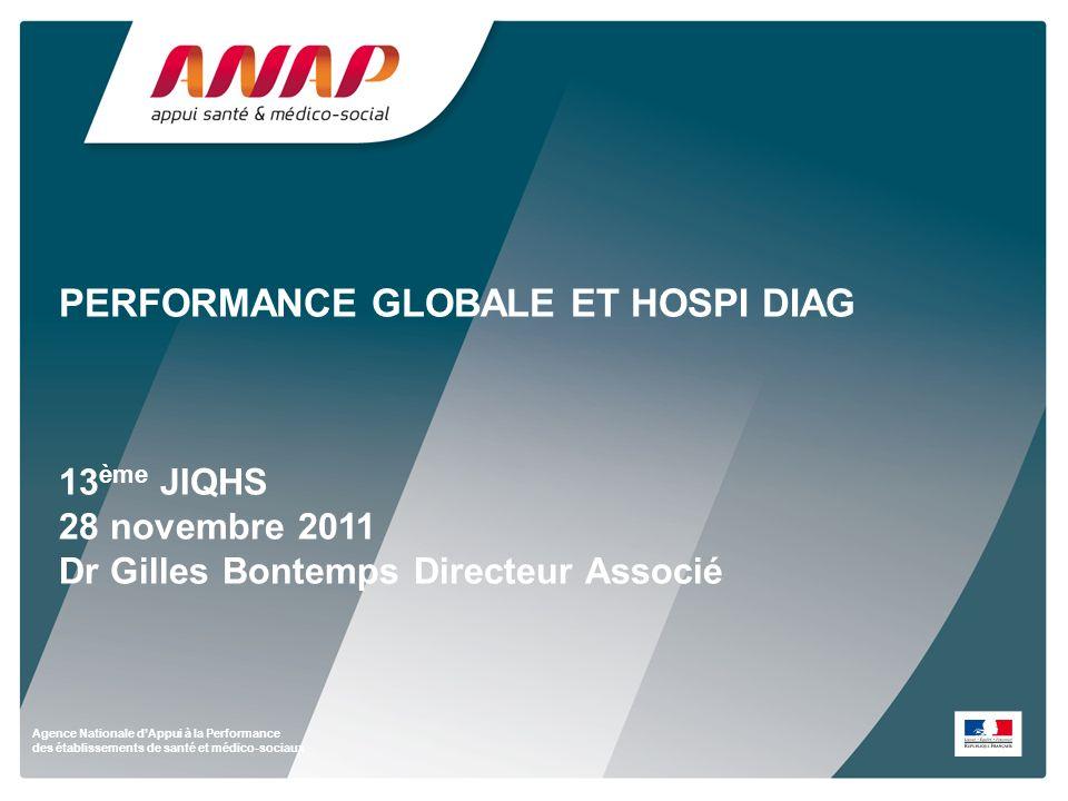 PERFORMANCE GLOBALE ET HOSPI DIAG 13ème JIQHS 28 novembre 2011 Dr Gilles Bontemps Directeur Associé