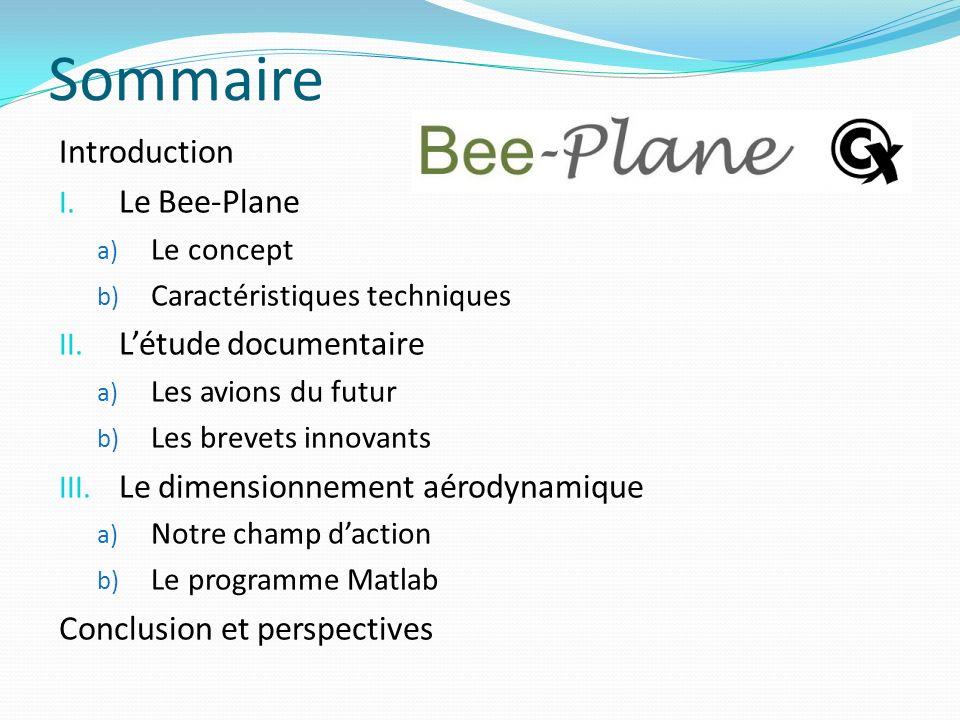 Sommaire Introduction Le Bee-Plane L'étude documentaire