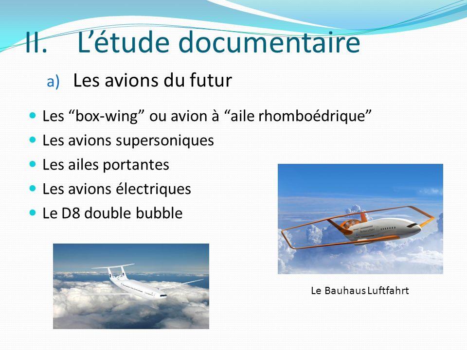 L'étude documentaire Les avions du futur