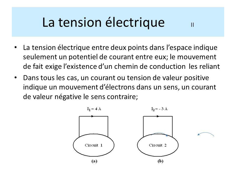 La tension électrique II