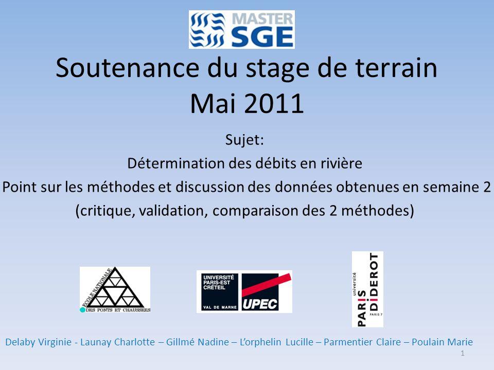 Soutenance du stage de terrain Mai 2011